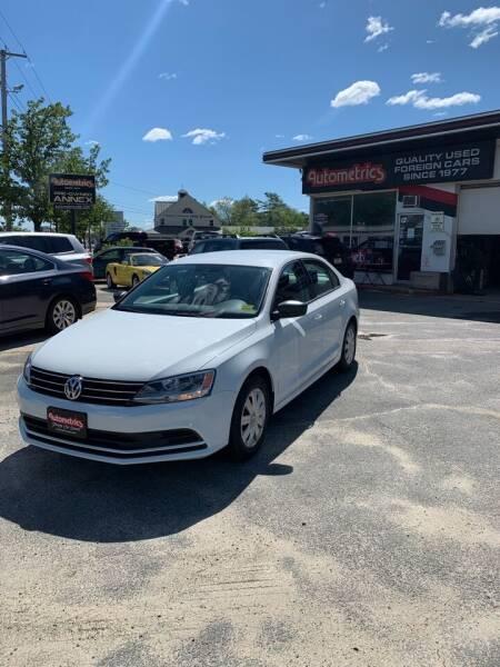 2015 Volkswagen Jetta for sale at AUTOMETRICS in Brunswick ME