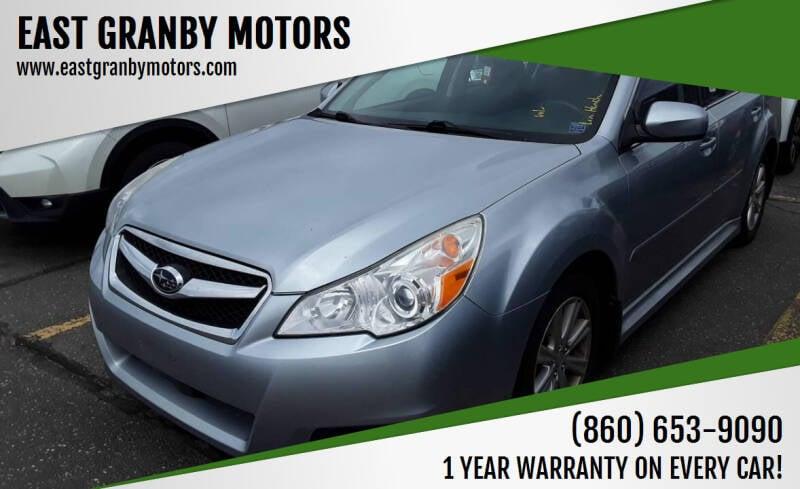 2012 Subaru Legacy for sale at EAST GRANBY MOTORS in East Granby CT