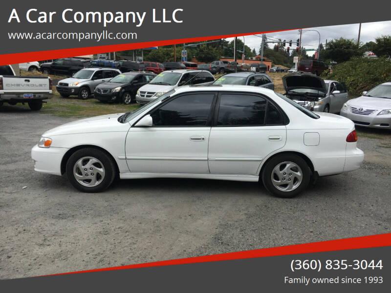 2001 Toyota Corolla for sale at A Car Company LLC in Washougal WA