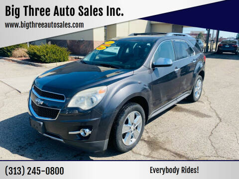 2013 Chevrolet Equinox for sale at Big Three Auto Sales Inc. in Detroit MI