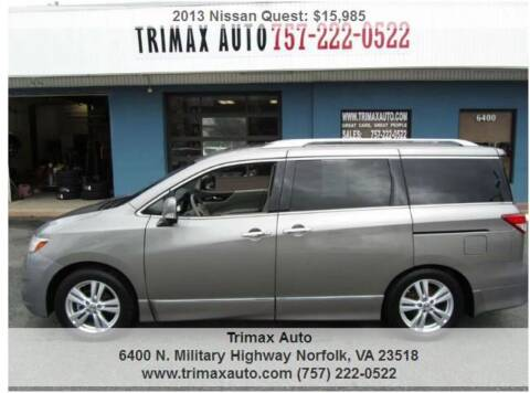 2013 Nissan Quest for sale at Trimax Auto Group in Norfolk VA