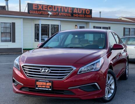 2016 Hyundai Sonata for sale at Executive Auto in Winchester VA