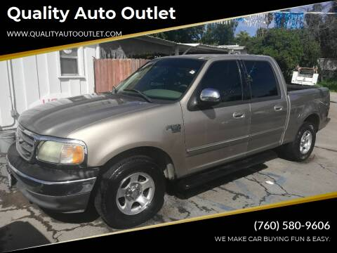 2002 Ford F-150 for sale at Quality Auto Outlet in Vista CA