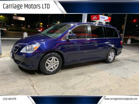 2007 Honda Odyssey for sale at Carriage Motors LTD in Ingleside IL
