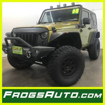 2008 Jeep Wrangler for sale at Frogs Auto Sales in Clinton IA