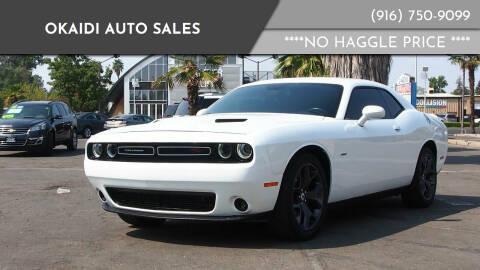2018 Dodge Challenger for sale at Okaidi Auto Sales in Sacramento CA