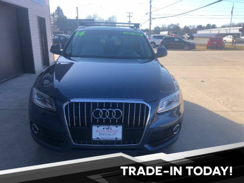 2016 Audi Q5 for sale at Auto Import Specialist LLC in South Bend IN