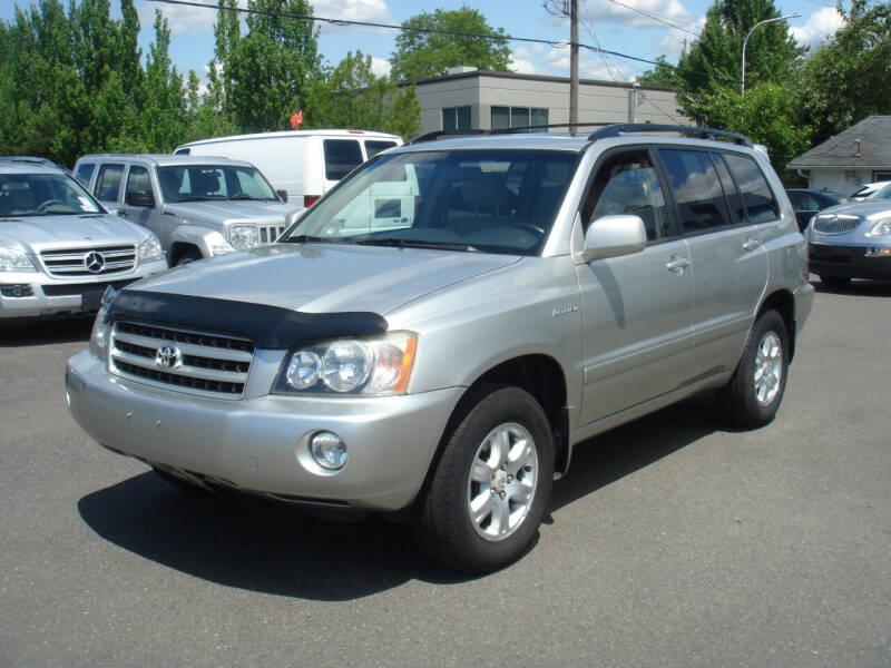 2002 Toyota Highlander for sale at Sound Auto Land LLC in Auburn WA
