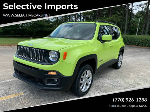 2017 Jeep Renegade for sale at Selective Imports in Woodstock GA