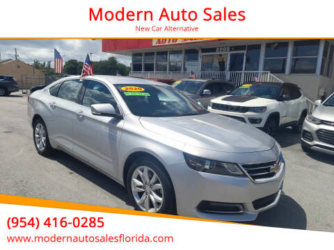 2020 Chevrolet Impala for sale at Modern Auto Sales in Hollywood FL