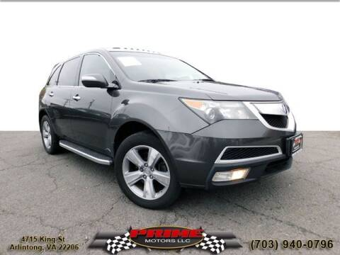 2011 Acura MDX for sale at PRIME MOTORS LLC in Arlington VA