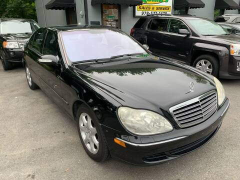 2003 Mercedes-Benz S-Class for sale at QUINN'S AUTOMOTIVE in Leominster MA