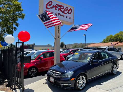 2012 Mercedes-Benz C-Class for sale at CARCO SALES & FINANCE - CARCO OF POWAY in Poway CA