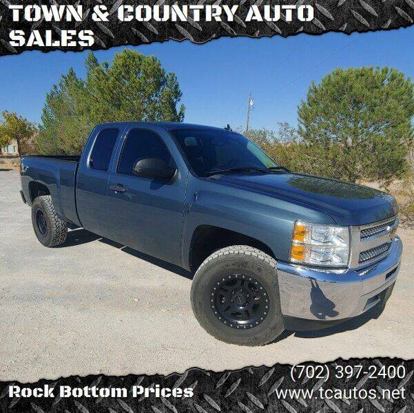 2013 Chevrolet Silverado 1500 for sale at TOWN & COUNTRY AUTO SALES in Overton NV
