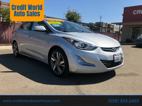 2014 Hyundai Elantra for sale at Credit World Auto Sales in Fresno CA