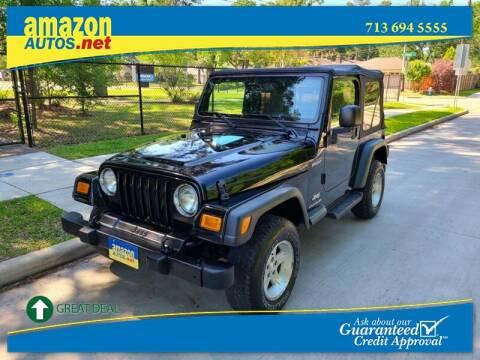 2004 Jeep Wrangler for sale at Amazon Autos in Houston TX