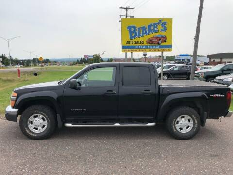 2005 GMC Canyon for sale at Blake's Auto Sales in Rice Lake WI