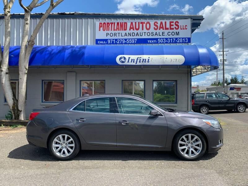 2013 Chevrolet Malibu for sale at PORTLAND AUTO SALES LLC. in Portland OR