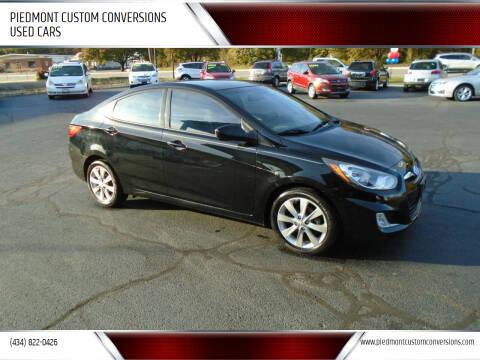 2012 Hyundai Accent for sale at PIEDMONT CUSTOM CONVERSIONS USED CARS in Danville VA