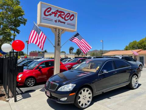 2007 Mercedes-Benz S-Class for sale at CARCO SALES & FINANCE - CARCO OF POWAY in Poway CA