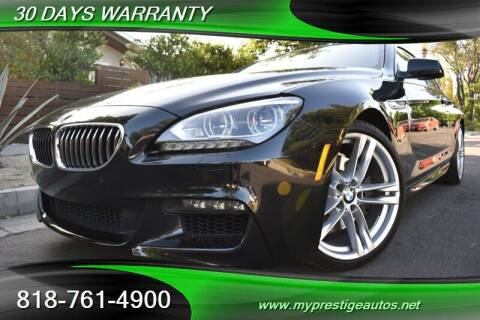 2015 BMW 6 Series for sale at Prestige Auto Sports Inc in North Hollywood CA