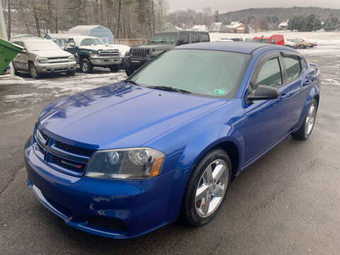2013 Dodge Avenger for sale at BURNWORTH AUTO INC in Windber PA