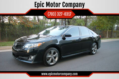 2014 Toyota Camry for sale at Epic Motor Company in Chantilly VA