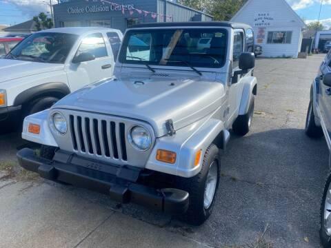 2005 Jeep Wrangler for sale at Bob Luongo's Auto Sales in Fall River MA