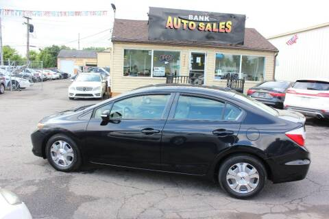 2012 Honda Civic for sale at BANK AUTO SALES in Wayne MI