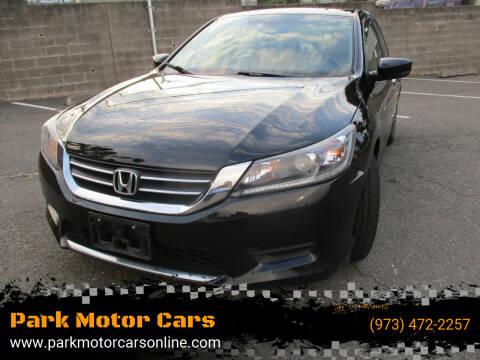 2014 Honda Accord for sale at Park Motor Cars in Passaic NJ