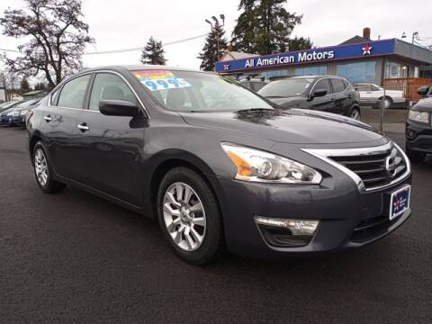 2013 Nissan Altima for sale at All American Motors in Tacoma WA