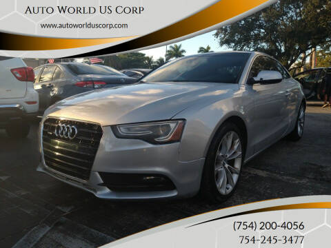 2013 Audi A5 for sale at Auto World US Corp in Plantation FL