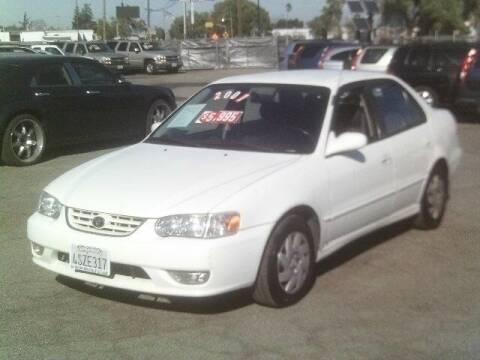 2001 Toyota Corolla for sale at Valley Auto Sales & Advanced Equipment in Stockton CA