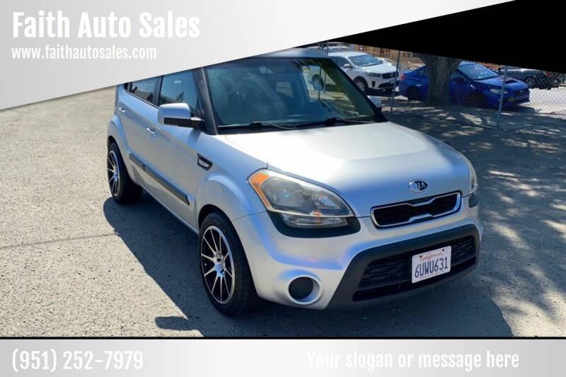 2012 Kia Soul for sale at Faith Auto Sales in Temecula CA