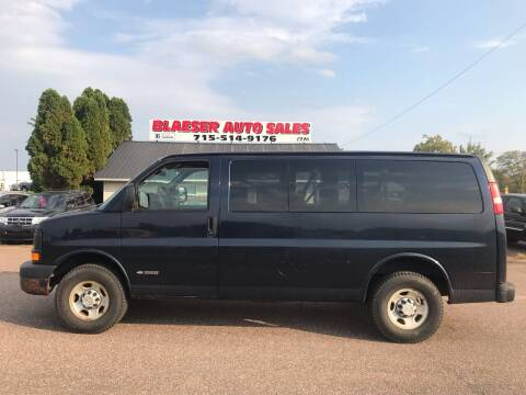 2006 Chevrolet Express Passenger for sale at BLAESER AUTO LLC in Chippewa Falls WI