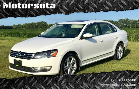 2013 Volkswagen Passat for sale at Motorsota in Becker MN