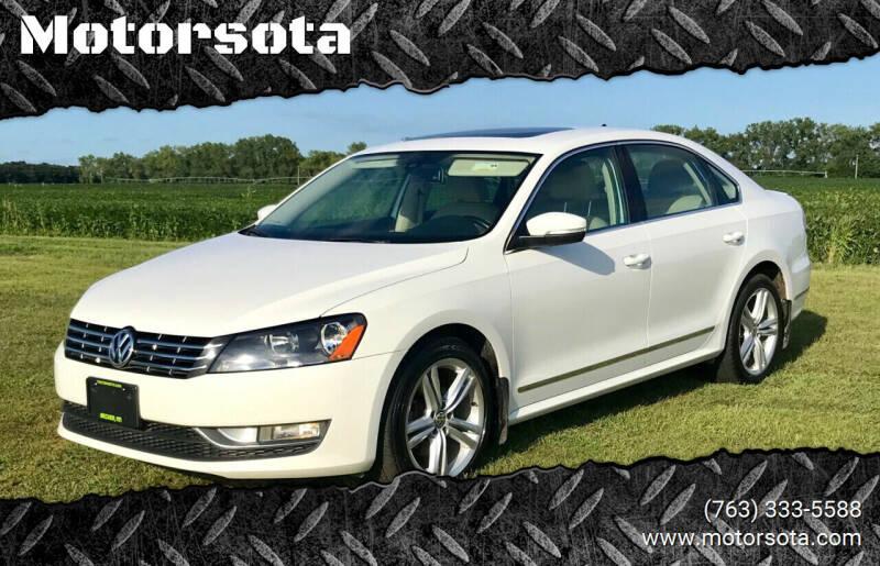 2013 Volkswagen Passat for sale at Motorsota in Becker MN