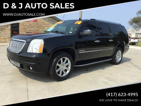 2010 GMC Yukon XL for sale at D & J AUTO SALES in Joplin MO