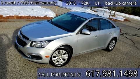 2015 Chevrolet Cruze for sale at Wheeler Dealer Inc. in Acton MA