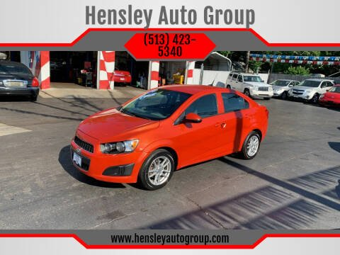 2012 Chevrolet Sonic for sale at Hensley Auto Group in Middletown OH