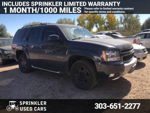 2013 Chevrolet Tahoe for sale at Sprinkler Used Cars in Longmont CO