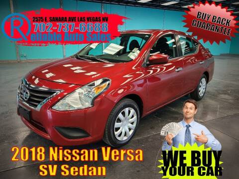 2018 Nissan Versa for sale at Reliable Auto Sales in Las Vegas NV