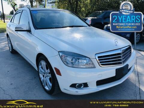 2010 Mercedes-Benz C-Class for sale at LUXURY UNLIMITED AUTO SALES in San Antonio TX