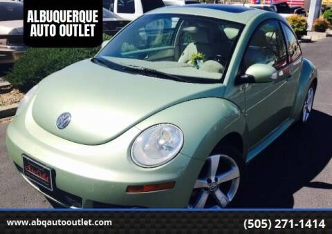 2006 Volkswagen New Beetle for sale at ALBUQUERQUE AUTO OUTLET in Albuquerque NM