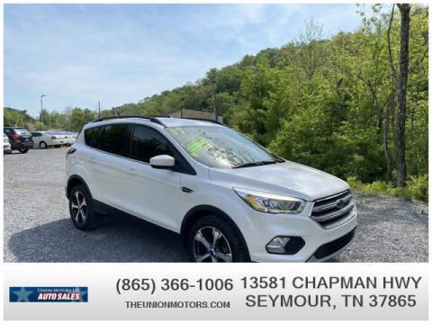 2017 Ford Escape for sale at Union Motors in Seymour TN