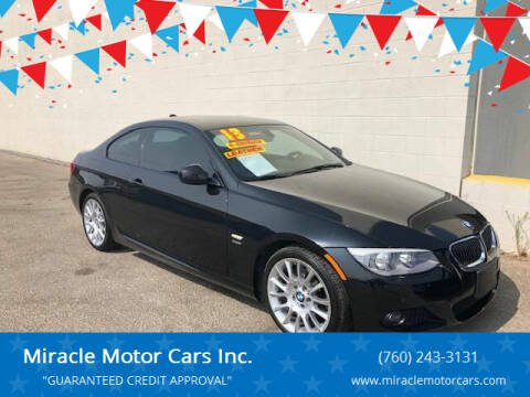 2013 BMW 3 Series for sale at Miracle Motor Cars Inc. in Victorville CA