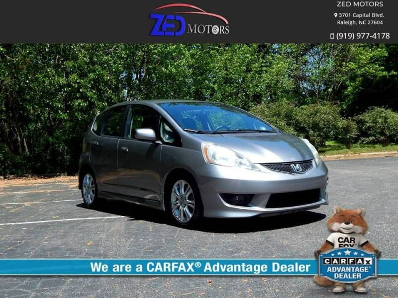 2009 Honda Fit for sale at Zed Motors in Raleigh NC