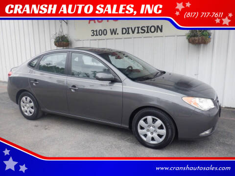 2008 Hyundai Elantra for sale at CRANSH AUTO SALES, INC in Arlington TX