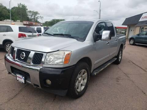 2005 Nissan Titan for sale at Gordon Auto Sales LLC in Sioux City IA