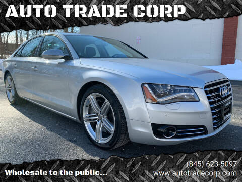 2013 Audi A8 for sale at AUTO TRADE CORP in Nanuet NY
